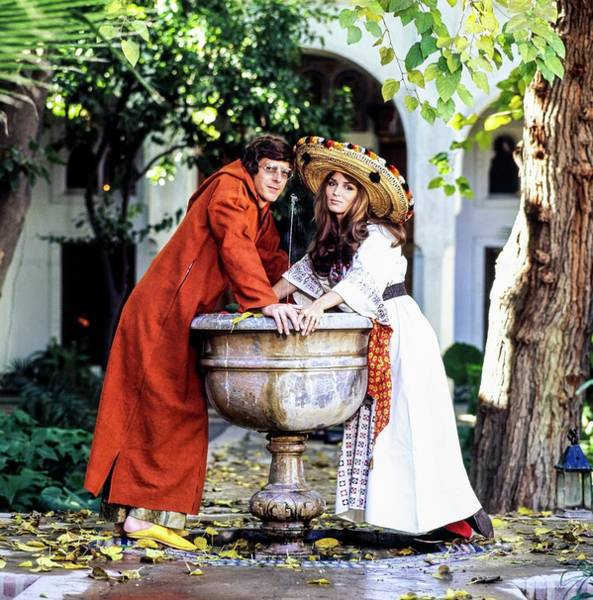 Wall Art - Photograph - Paul And Talitha Getty By Fountain by Patrick Lichfield