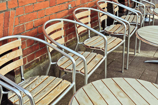 Metal Furniture Photograph - Pavement Cafe by Tom Gowanlock