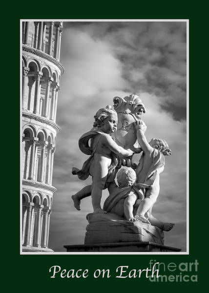 Angel Of Peace Photograph - Peace On Earth With Fountain Of Angels by Prints of Italy
