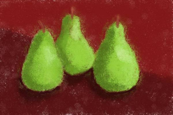 Ingredient Painting - Pear Trio by Heidi Smith