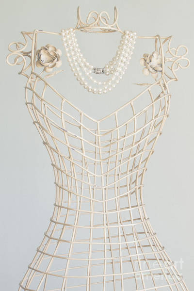 Dress Form Photograph - Pearls by Margie Hurwich