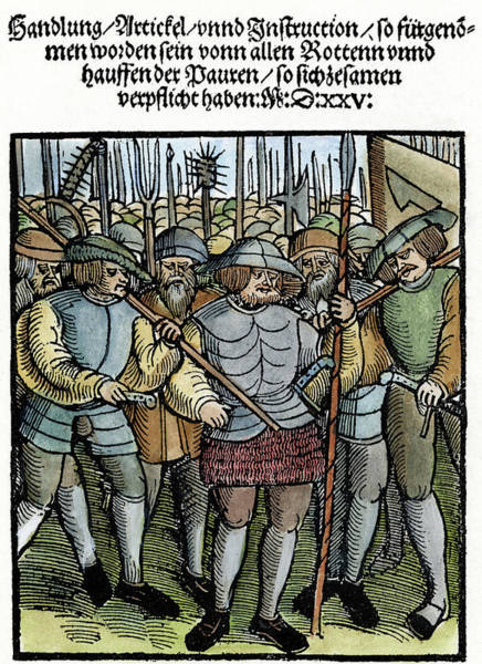 Painting - Peasant War, Germany, 1525 by Granger