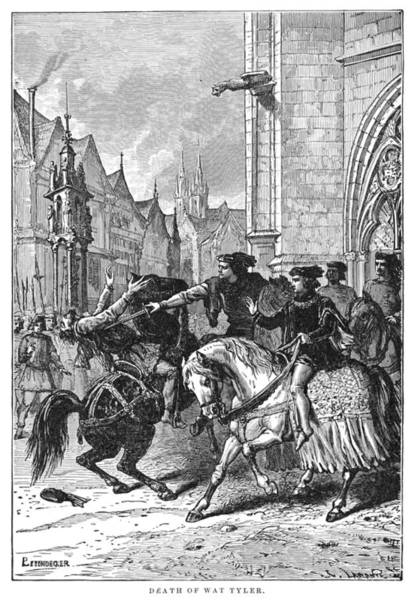Wall Art - Painting - Peasant's Revolt, 1381 by Granger