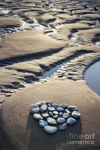 Photograph - Pebble Beach Heart by Tim Gainey