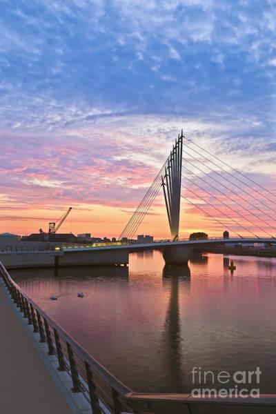 Greater Manchester Wall Art - Photograph - Pedestrian Suspension Bridge  by Roberto Morgenthaler