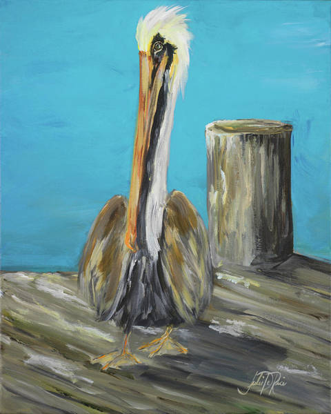Wall Art - Painting - Pelican Way I by Julie Derice