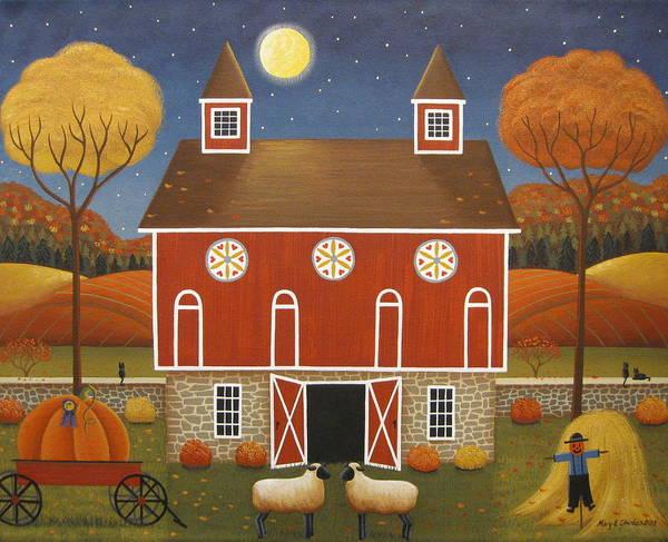Pa Wall Art - Painting - Pennsylvania Dutch Hex Barn by Mary Charles