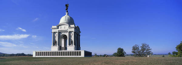 Gettysburg Battlefield Photograph - Pennsylvania State Memorial by Panoramic Images