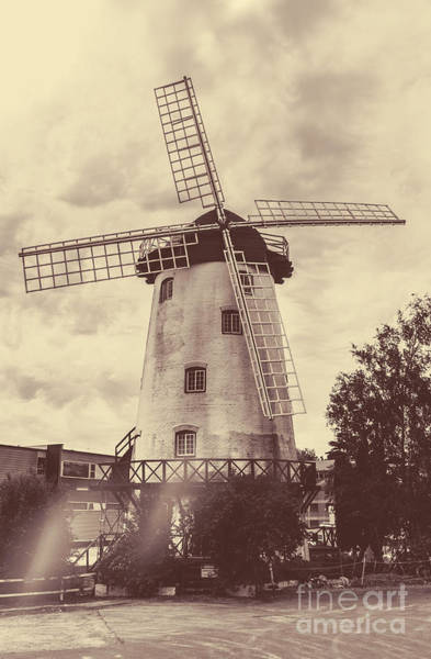 Wind Generators Photograph - Penny Royal Windmill In Launceston Tasmania  by Jorgo Photography - Wall Art Gallery