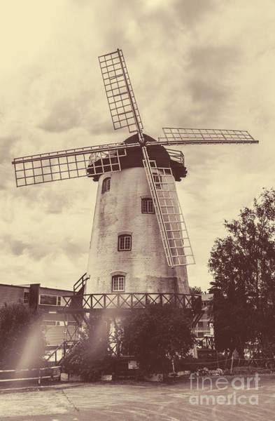 Wind Generator Photograph - Penny Royal Windmill In Launceston Tasmania  by Jorgo Photography - Wall Art Gallery