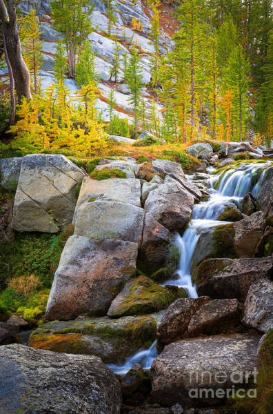 Alpine Photograph - Perfection Lakes Falls by Inge Johnsson