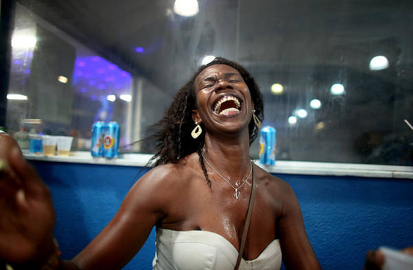 Laughing Photograph - Performers Rehearse For Carnival In Rio by Mario Tama