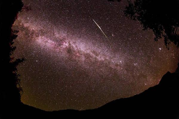 Perseid Wall Art - Photograph - Perseid Meteor Over Yosemite by Babak Tafreshi/science Photo Library