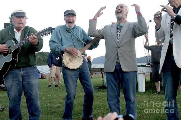 Folk Singer Photograph - Pete Seeger by Concert Photos