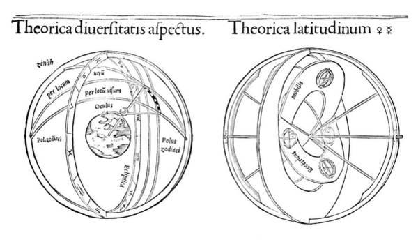 Zodiac Wall Art - Photograph - Peuerbach Planetary Models by Royal Astronomical Society/science Photo Library