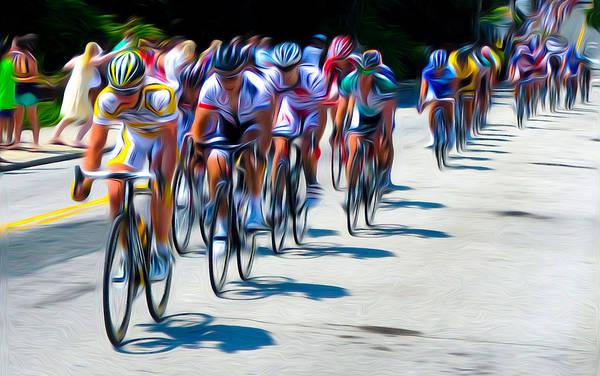Photograph - Philadelphia Bike Race by Bill Cannon