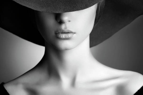 Hat Photograph - Photo Of Beautiful Woman In Retro Style by Coffeeandmilk