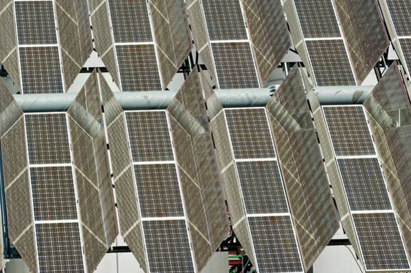Solar Panels Photograph - Photovoltaic Power Plant by Philippe Psaila