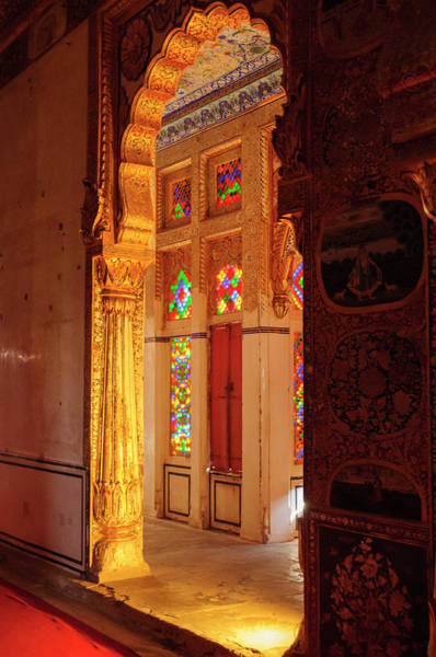 Singh Wall Art - Photograph - Phul Mahal, Mehrangarh Fort, Jodhpur by Inger Hogstrom