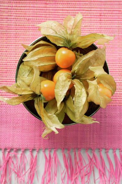 Wall Art - Photograph - Physalis With Calyxes In A Bowl by Foodcollection