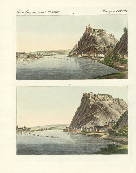 Rungs Wall Art - Drawing - Picturesque Views Of The Rhine by Splendid Art Prints