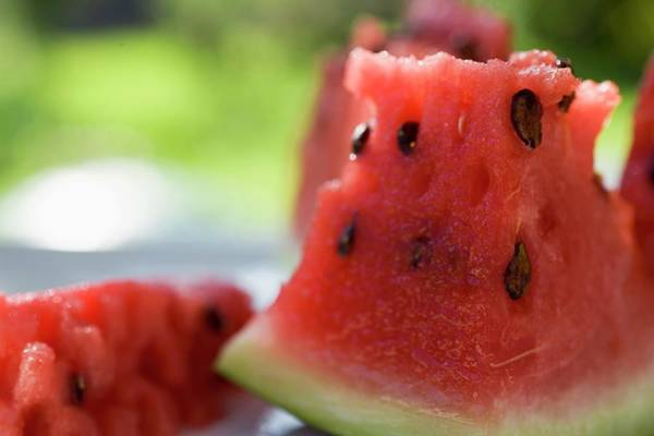Wall Art - Photograph - Pieces Of Watermelon by Foodcollection