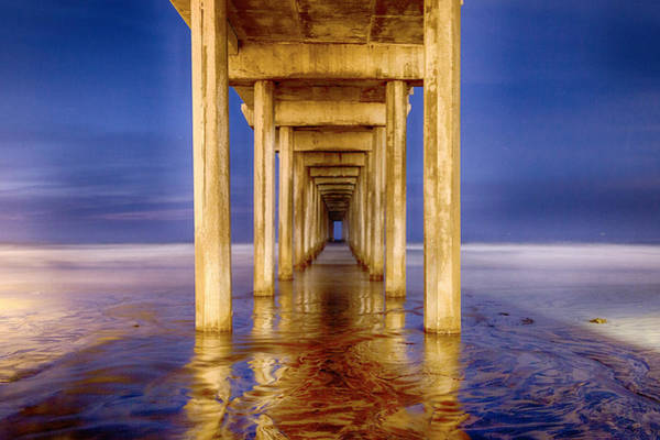 Scripps Pier Photograph - Scripps Pier At Lajolla by Cathy Smart