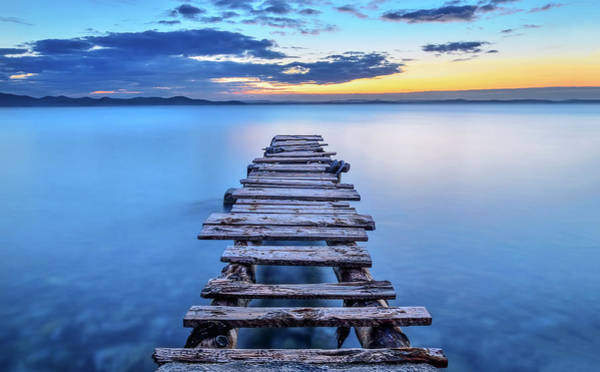 Horizon Wall Art - Photograph - Pier by Srecko Jubic