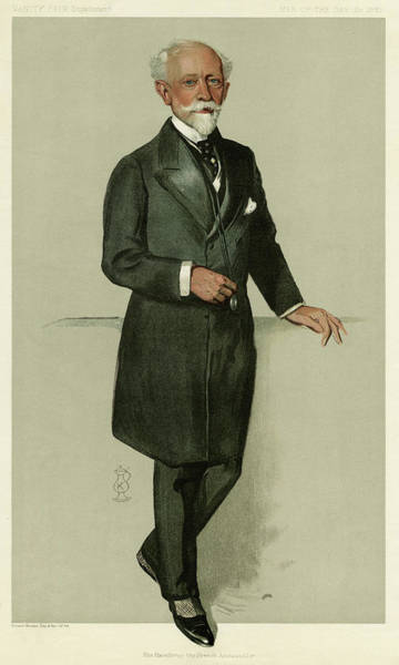 1924 Drawing - Pierre-paul Cambon  French Diplomat by Mary Evans Picture Library