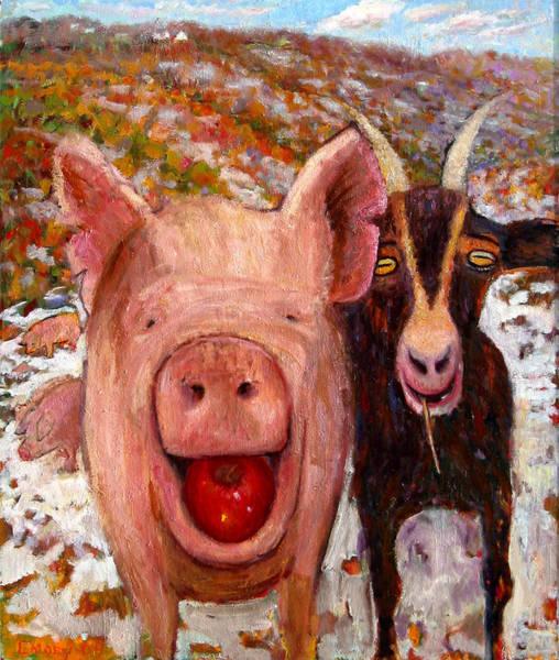 Pig And Goat Art Print
