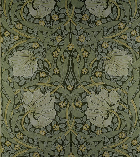 Elaborate Wall Art - Tapestry - Textile - Pimpernel Wallpaper Design by William Morris