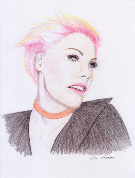 Drawing - Pink by M Valeriano