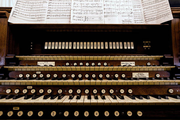 Pipe Organ Wall Art - Photograph - Pipe Organ Console, The Temple by Panoramic Images