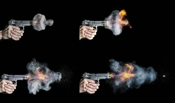 Firepower Photograph - Pistol Shot by Herra Kuulapaa � Precires