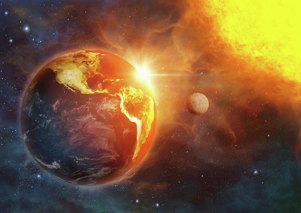 Wall Art - Photograph - Planet Earth And Global Warming by Ikon Ikon Images