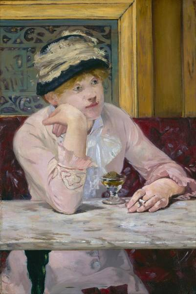 Wall Art - Painting - Plum Brandy by Edouard Manet