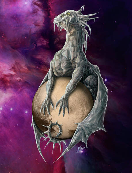 Wall Art - Painting - Pluto Dragon by MGL Meiklejohn Graphics Licensing