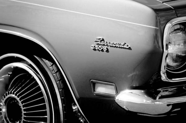Photograph - Plymouth Barracuda 340-s Emblem by Jill Reger