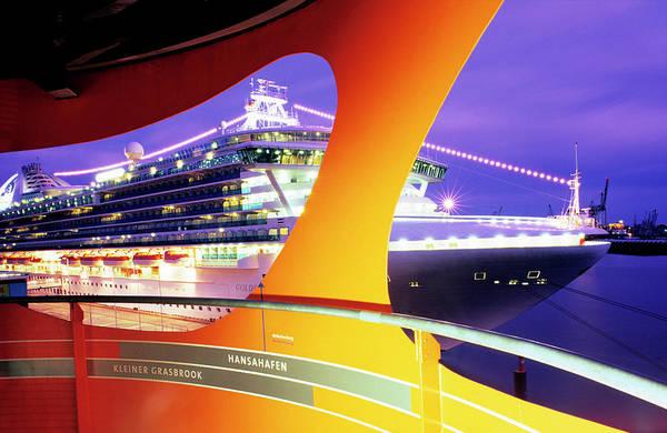 Golden Princess Photograph - P&o Cruise Liner Golden Princess by Marc Steinmetz