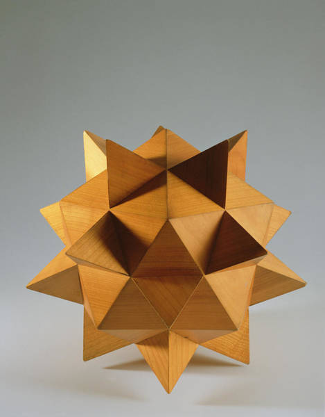 Spikes Photograph - Polyhedron Wood by Italian School