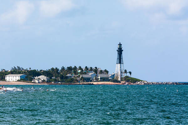 Photograph - Pompano And The Hillsboro Inlet Lighthouse by Ed Gleichman