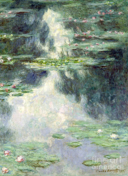 Giverny Painting - Pond With Water Lilies by Claude Monet