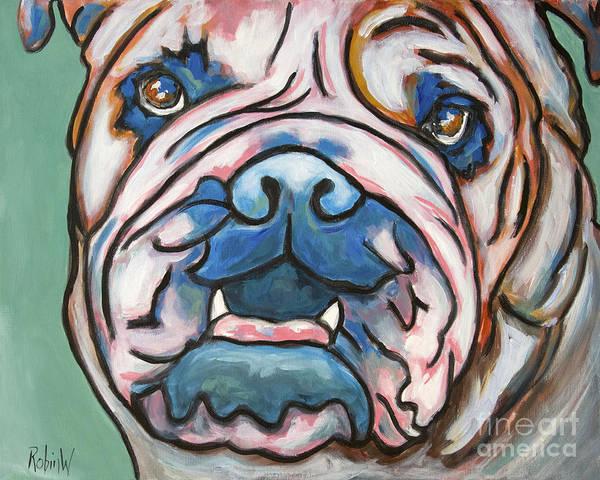 Wall Art - Painting - Pop Art Bulldog by Robin Wiesneth
