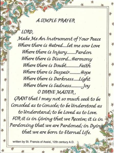 Simple Life Mixed Media - Pope Francis St. Francis Simple Prayer For Peace by Desiderata Gallery