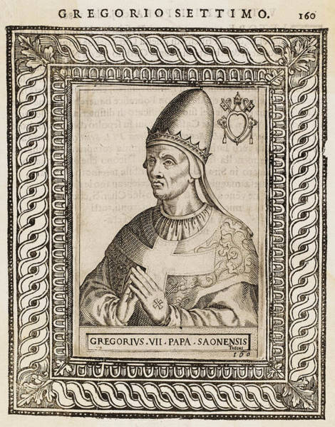 Wall Art - Drawing - Pope Gregorius Vii (hildebrand) Pope by Mary Evans Picture Library