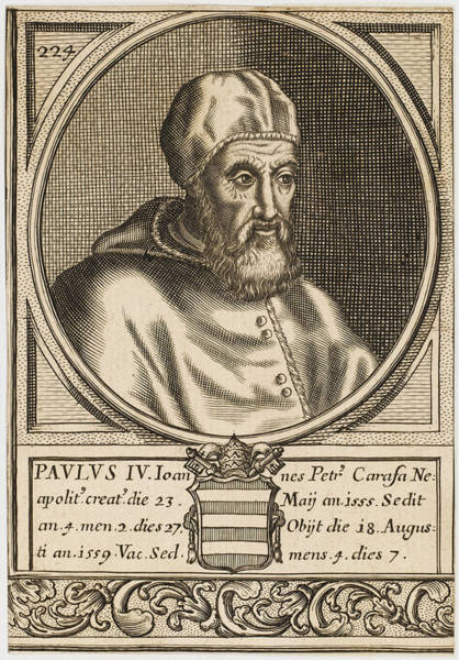 Wall Art - Drawing - Pope Paulus Iv (giovanni Pietro Carafa) by Mary Evans Picture Library