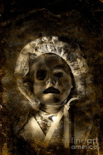 Anguish Photograph - Porcelain Doll Crying Tears Of Cracks by Jorgo Photography - Wall Art Gallery