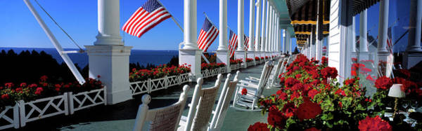 Grand Hotel Photograph - Porch Of The Grand Hotel, Mackinac by Panoramic Images