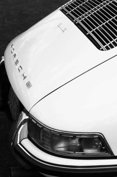 1967 Photograph - 1967 Porsche 911s Taillight Emblem by Jill Reger