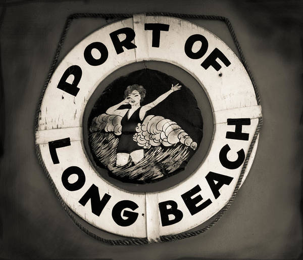 Port Of Long Beach Life Saver Vin By Denise Dube Art Print